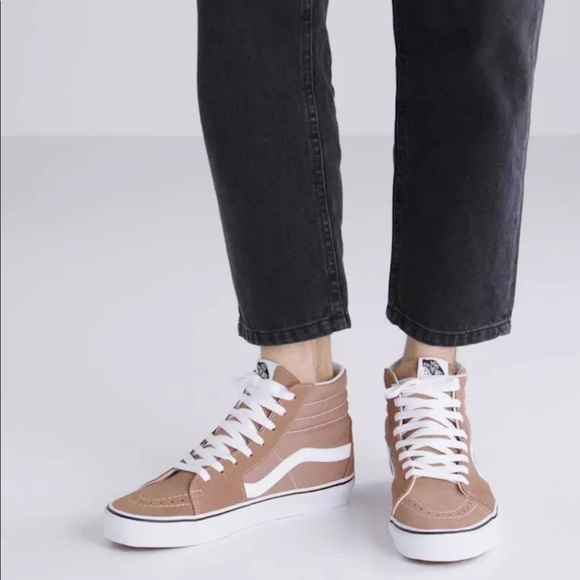 7bfb96d39a56 Vans Men s Sk8-Hi Tiger s Eye White Skate Shoes